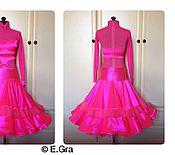 Одежда ручной работы. Ярмарка Мастеров - ручная работа Ярко-розовое рейтинговое платье. Handmade.