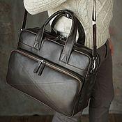 Сумки и аксессуары handmade. Livemaster - original item Men`s business leather bag