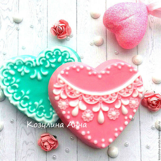 комплимент гостям на свадьбу,мыло сердечко,мыло свадебное,мыло бонбоньерка,мыло сердце,сердце в кружевах