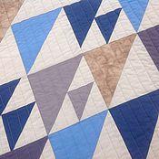 Для дома и интерьера ручной работы. Ярмарка Мастеров - ручная работа Лоскутное стёганое покрывало из хлопка 205х240 На Финском заливе. Handmade.