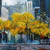 Картины и панно handmade. Livemaster - original item Painting city, cityscape landscape cheap. Handmade.