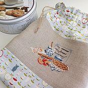 Jars handmade. Livemaster - original item Textile bag handmade cross stitch Apple pie. Handmade.