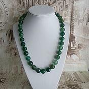 Работы для детей, handmade. Livemaster - original item Green agate beads. Handmade.