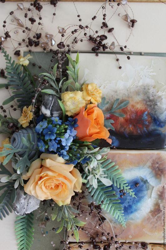 Картины цветов ручной работы. Ярмарка Мастеров - ручная работа. Купить И страсть, и лед.... Handmade. Комбинированный, контрастный, синий
