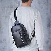 Сумки и аксессуары handmade. Livemaster - original item Men`s leather shoulder bag
