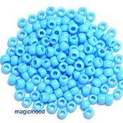 Материалы для творчества handmade. Livemaster - original item 10 grams 6/0 Toho 43 Japanese TOHO beads opaque blue. Handmade.