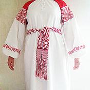 Русский стиль handmade. Livemaster - original item Russian embroidered dress