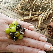 """Украшения ручной работы. Ярмарка Мастеров - ручная работа """"Олива, Карамель и Шоколад"""" кольцо с подвесками. Handmade."""