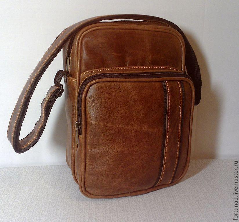 Bag leather mens 181, Men\'s bag, St. Petersburg,  Фото №1