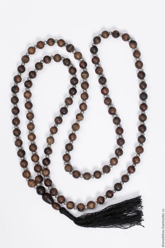 Четки ручной работы. Ярмарка Мастеров - ручная работа. Купить Четки из Агарового дерева с серебром 88 шаров. Handmade.