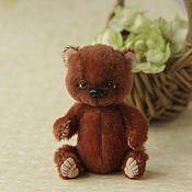 Куклы и игрушки ручной работы. Ярмарка Мастеров - ручная работа миниатюрный мишка тедди рост 7см. Handmade.