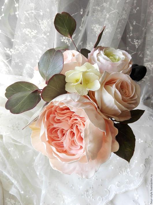 Свадебные цветы ручной работы. Ярмарка Мастеров - ручная работа. Купить Букет невесты из фоамирана. Handmade. Кремовый, букет