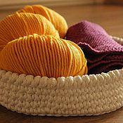 Для дома и интерьера ручной работы. Ярмарка Мастеров - ручная работа Корзинка вязаная. Handmade.