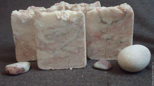 """Мыло ручной работы. Ярмарка Мастеров - ручная работа. Купить Мыло с нуля """"Морская соль и глина"""". Handmade. Бледно-розовый"""
