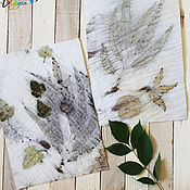 Картины и панно handmade. Livemaster - original item Fingerprints of nature - ekoprint on paper. Handmade.