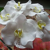 Украшения ручной работы. Ярмарка Мастеров - ручная работа Белые орхидеи на шпильках для волос. Handmade.