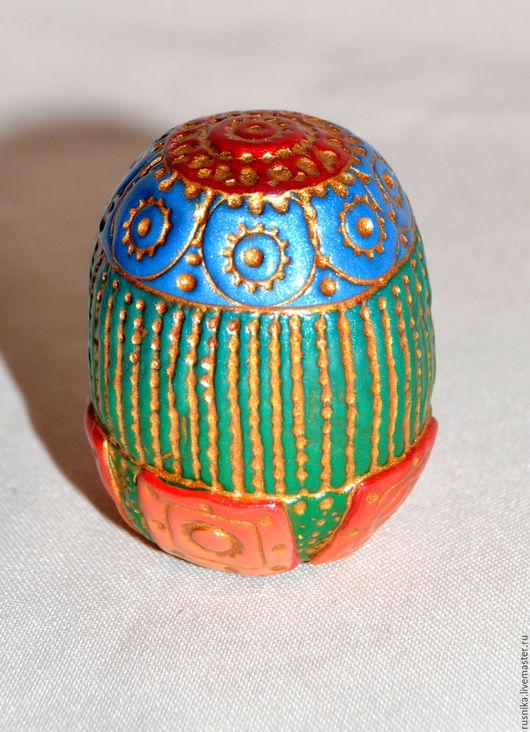 Яйца ручной работы. Ярмарка Мастеров - ручная работа. Купить N10 Яйцо из полимерной глины ТРОПИЧЕСКИЙ ЦВЕТОК. Handmade. Комбинированный