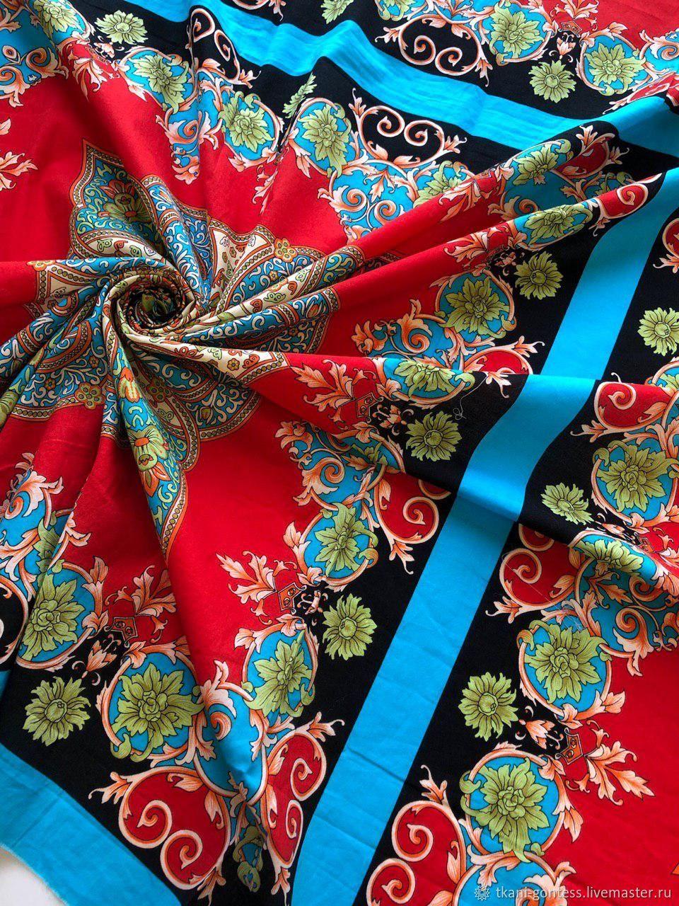 Шитье ручной работы. Ярмарка Мастеров - ручная работа. Купить Потрясающий, яркий хлопок. Handmade. Итальянский хлопок, ткань из италии
