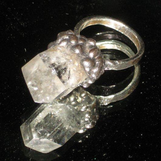 """Кольца ручной работы. Ярмарка Мастеров - ручная работа. Купить кольцо """"Кварц в каплях"""". Handmade. Серебряный, кольцо ведьмы"""