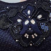 Аппликации ручной работы. Ярмарка Мастеров - ручная работа Аппликации: Люневильская вышивка на плечи черная погоны 80 долларов. Handmade.