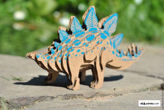 Развивающие игрушки ручной работы. Ярмарка Мастеров - ручная работа. Купить 3D-ПАЗЛ «Стегозавр». Handmade. 3d пазл