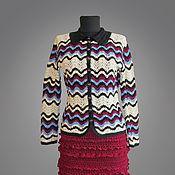 Одежда ручной работы. Ярмарка Мастеров - ручная работа Rosita, вязаный жакет. Handmade.