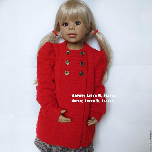 """Одежда для девочек, ручной работы. Ярмарка Мастеров - ручная работа. Купить Кардиган детский вязаный """" Для истинных леди"""". Handmade."""