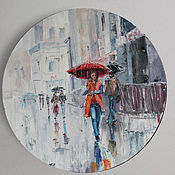 Картины и панно handmade. Livemaster - original item Pictures: city rain. Handmade.
