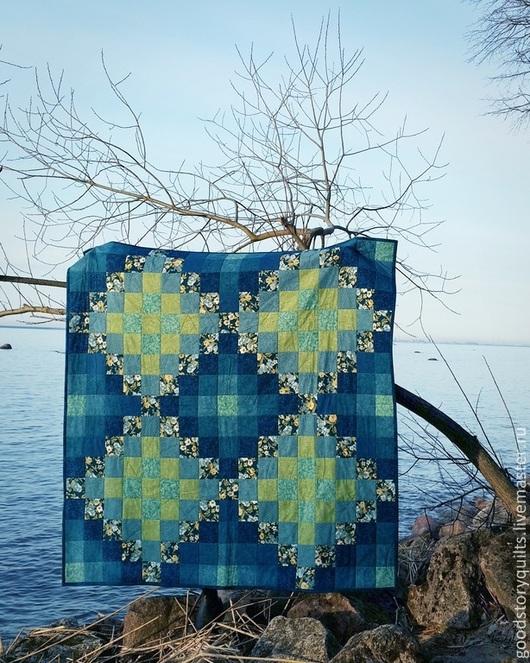 Текстиль, ковры ручной работы. Ярмарка Мастеров - ручная работа. Купить Лоскутное одеяло. 'Тёплая ночь'. Handmade. Лоскутное одеяло