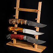 Сувениры и подарки handmade. Livemaster - original item Stand for 5 knives with beech wood. Handmade.
