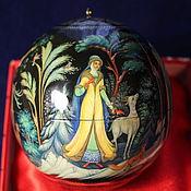 Русский стиль handmade. Livemaster - original item Christmas ball with the author`s painting