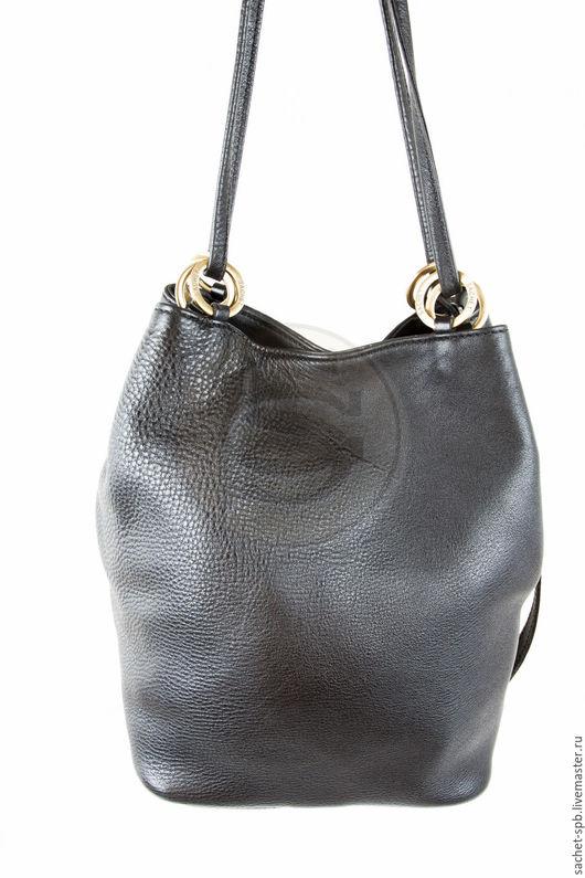 """Женские сумки ручной работы. Ярмарка Мастеров - ручная работа. Купить Женская кожаная сумка """"Хлоя"""" черная. Handmade. Черный"""