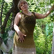 """Одежда ручной работы. Ярмарка Мастеров - ручная работа Платье летнее """"Оливковый микс"""". Handmade."""
