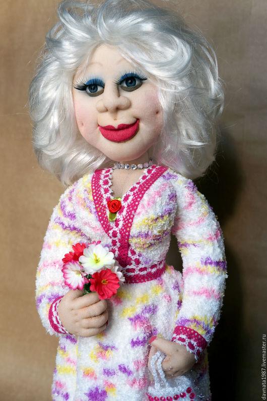 Коллекционные куклы ручной работы. Ярмарка Мастеров - ручная работа. Купить Чулочная кукла Света. Handmade. Бледно-розовый, трессы