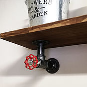 Для дома и интерьера handmade. Livemaster - original item Pipe bracket for shelf in Loft style, Industrial. Handmade.