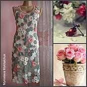 """Одежда ручной работы. Ярмарка Мастеров - ручная работа Платье """" Пыльная роза """". Handmade."""