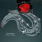 Украшения handmade. Livemaster - original item Necklace FOR SNOW KINGDOM Mountain Crystal Silver Author`s work. Handmade.