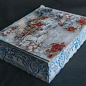 Для дома и интерьера ручной работы. Ярмарка Мастеров - ручная работа Шкатулка для чайных пакетиков. Handmade.