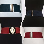 Аксессуары handmade. Livemaster - original item The belt-gum, Black, Blue, Red, Green, height 6cm, buckles to choose. Handmade.