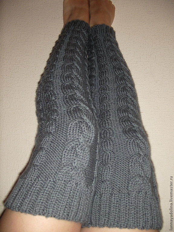 'Noble gray' extra long leg warmers, Leg warmers, Podolsk,  Фото №1