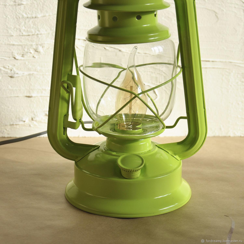 Elctrico de la lmpara lmpara de aceite de carbn verde claro fair masters green kerosene table lamp unusual lamp that will suit any decor aloadofball Image collections