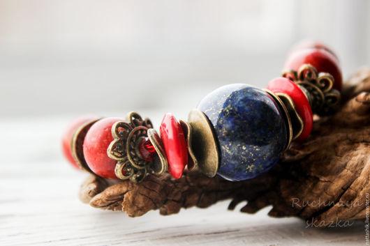 Браслеты ручной работы. Ярмарка Мастеров - ручная работа. Купить Морской - браслет. Handmade. Небо, яркий, природа, лесной, вишня