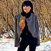 """Одежда ручной работы. Ярмарка Мастеров - ручная работа Жакет из натуральной шерсти с вышивкой в технике """"ришелье"""" (№229). Handmade."""