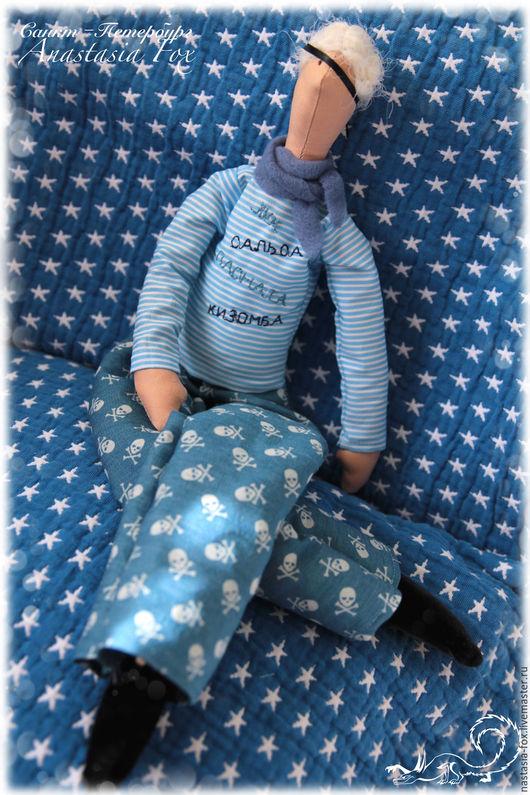 Куклы Тильды ручной работы. Ярмарка Мастеров - ручная работа. Купить Тильда, Пират - танцор. Handmade. Синий, кукла в подарок