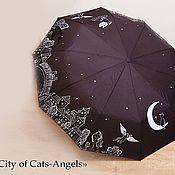 Аксессуары ручной работы. Ярмарка Мастеров - ручная работа Зонт «City of Cats-Angels». Handmade.