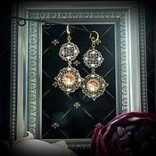 Украшения handmade. Livemaster - original item Long earrings made of beads and crystals. Handmade.