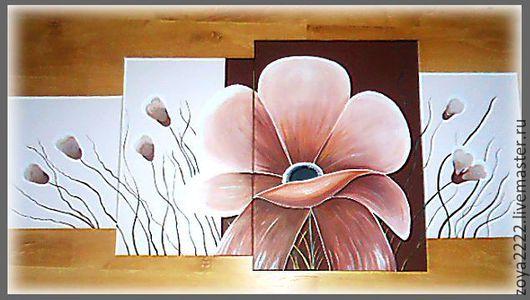 Картины цветов ручной работы. Ярмарка Мастеров - ручная работа. Купить Калифорнийский мак. Handmade. Коричневый, маки, акрил, акрил