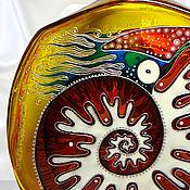 Посуда ручной работы. Ярмарка Мастеров - ручная работа Бутылка Наутилус, витражная роспись. Handmade.