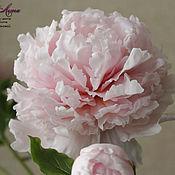 Цветы и флористика handmade. Livemaster - original item pink peony from polymer clay (cold porcelain). Handmade.