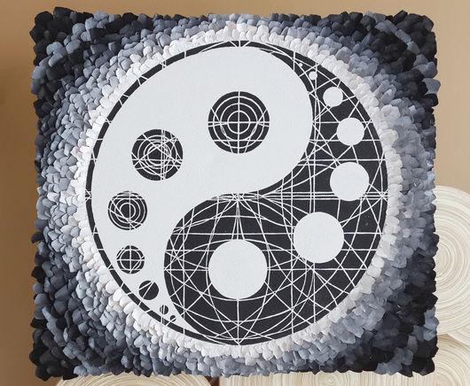 """Медитация ручной работы. Ярмарка Мастеров - ручная работа. Купить Авторская Мандала """"Yin-Yang Eye"""" от DiAngeria.. Handmade."""